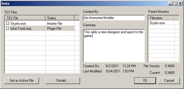 File Menu - Creation Kit
