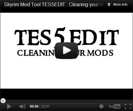 TES5EDIT : Cleaning your mods